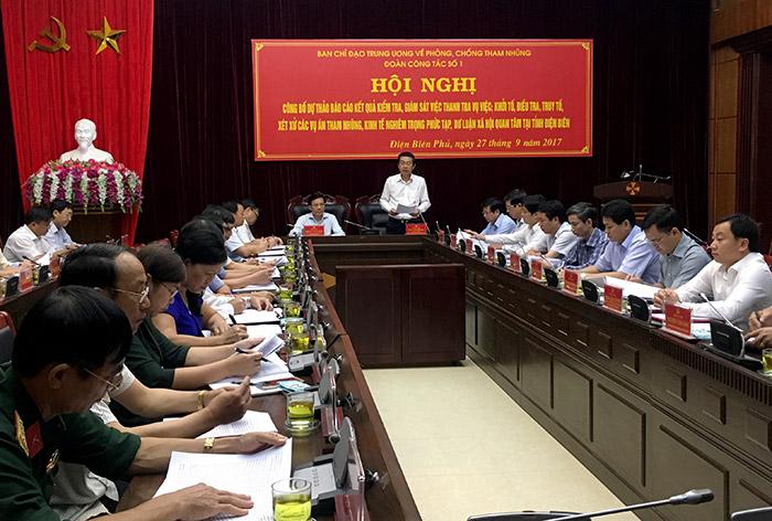 Công bố dự thảo kết quả kiểm tra, giám sát phòng, chống tham nhũng tại tỉnh Điện Biên