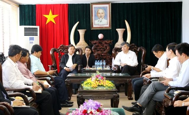 Thứ trưởng Bộ Nông Lâm nghiệp CHDCND Lào thăm, làm việc tại Điện Biên