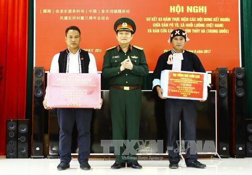 Tăng cường quan hệ đoàn kết, hợp tác giữa nhân dân và quân đội vùng biên giới Việt - Trung