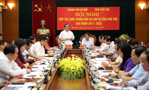 Hà Nội – Phú Thọ: Đẩy mạnh hợp tác toàn diện trên các lĩnh vực