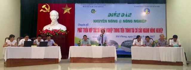 Đẩy mạnh phát triển kinh tế HTX trong tái cơ cấu nông nghiệp