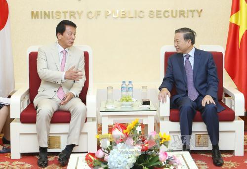 Bộ trưởng Bộ Công an Tô Lâm tiếp Đại sứ đặc biệt  Việt Nam - Nhật Bản và  Đại sứ Thổ Nhĩ Kỳ