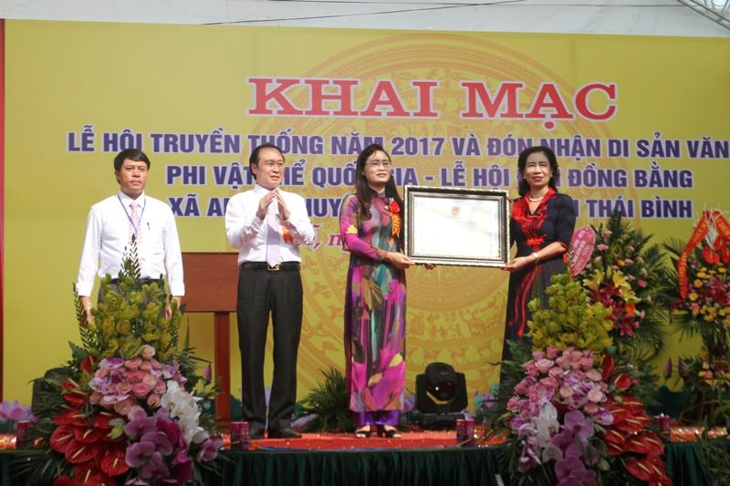 Thái Bình: Lễ hội đền Đồng Bằng trở thành Di sản văn hóa phi vật thể Quốc gia
