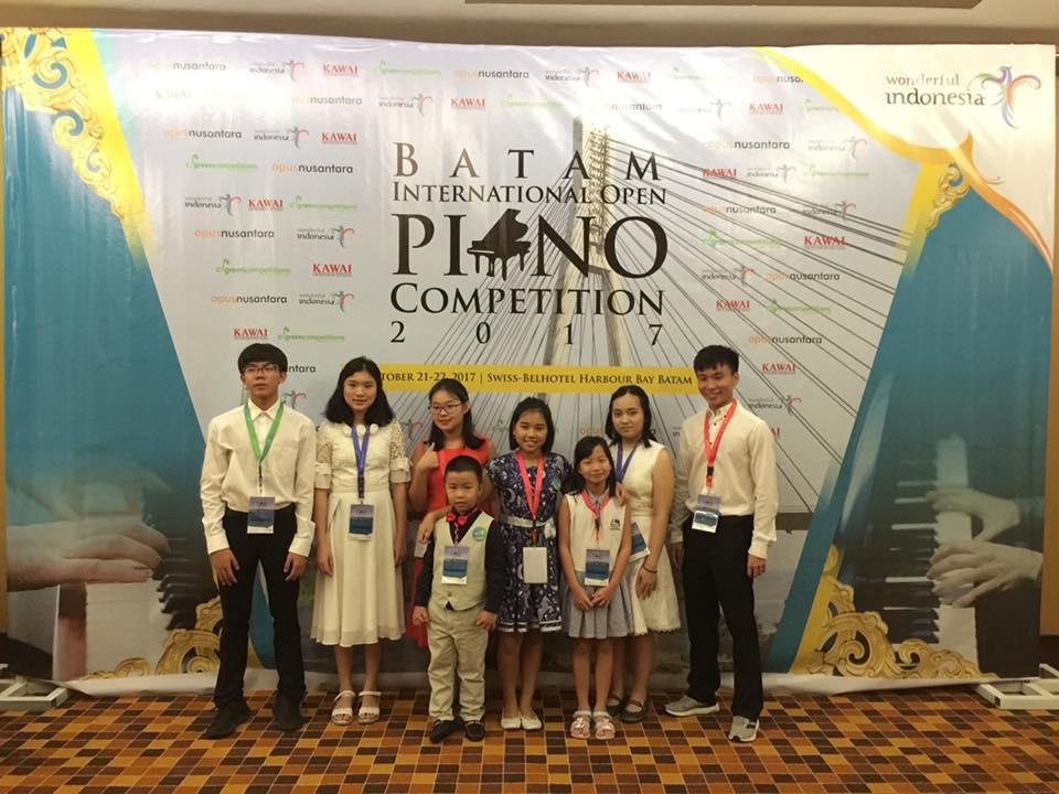 Lên đường tham dự Batam Piano International Open Competition 2017