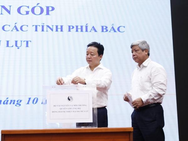 Bộ Tài nguyên và Môi trường phát động quyên góp ủng hộ đồng bào thiệt hại do mưa lũ