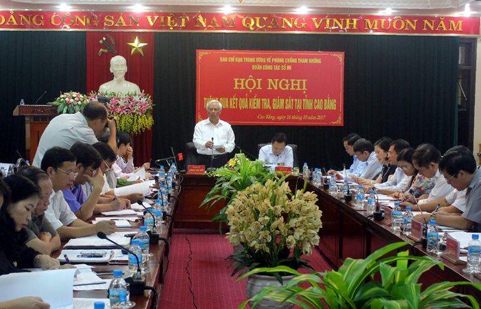 Công bố dự thảo kết quả kiểm tra, giám sát phòng, chống tham nhũng tại Cao Bằng
