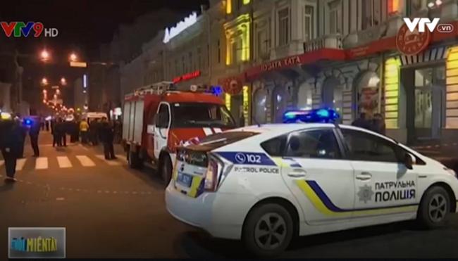 Xe lao vào đám đông ở Ukraine