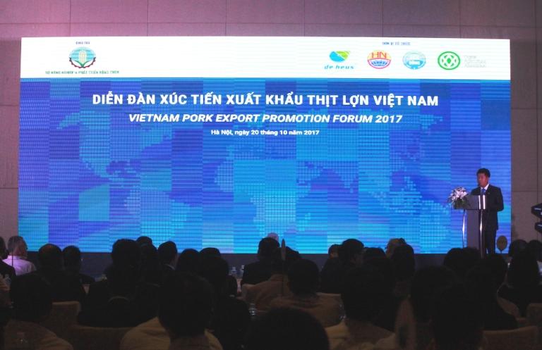 Tăng cường các giải pháp thúc đẩy xuất khẩu thịt lợn