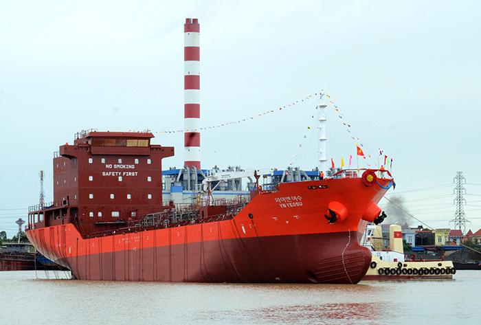 SBIC hạ thủy tàu chở dầu hiện đại cho Hàn Quốc