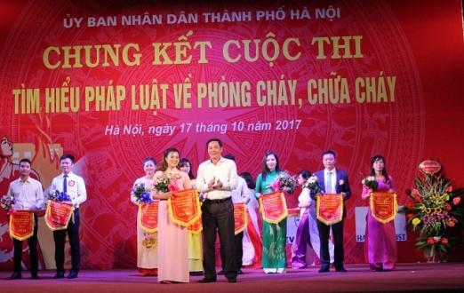Hà Nội: Chung kết cuộc thi Tìm hiểu pháp luật về phòng cháy, chữa cháy