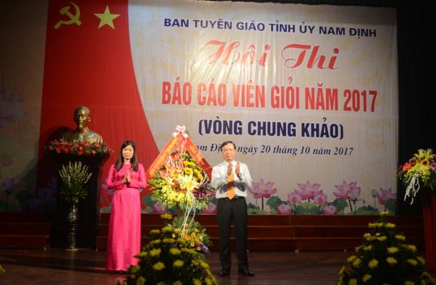 Nam Định: Chung khảo Hội thi Báo cáo viên giỏi cấp tỉnh năm 2017