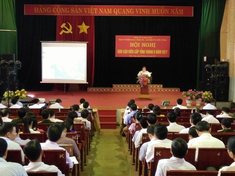 Lạng Sơn: Hội nghị Báo cáo viên tuyên truyền về quản lý và bảo vệ chủ quyền biển đảo