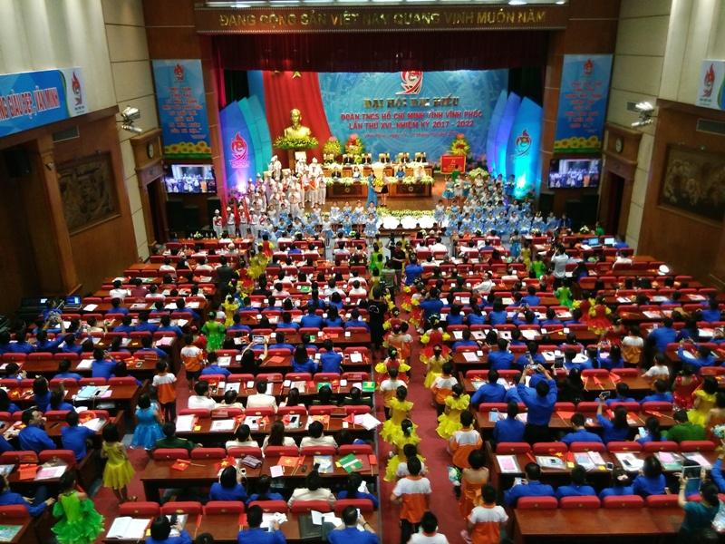 Khai mạc Đại hội đại biểu Đoàn TNCS Hồ Chí Minh tỉnh Vĩnh Phúc lần thứ XVI