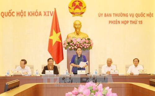 Ủy ban Thường vụ Quốc hội khai mạc Phiên họp thứ 15