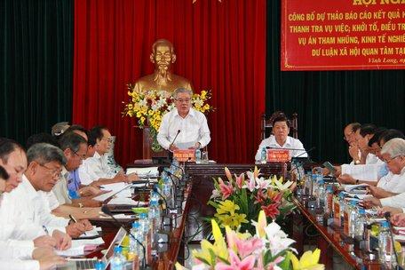 Kiểm tra, giám sát việc xử lý các vụ án tham nhũng, kinh tế nghiêm trọng tại tỉnh Vĩnh Long