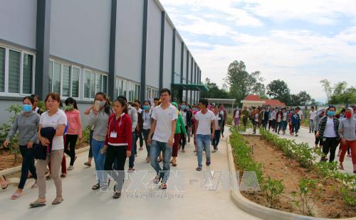 Công nhân Công ty may U World Sports Việt Nam đi làm trở lại