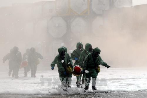Thành phố Hồ Chí Minh diễn tập ứng phó với sự cố rò rỉ hóa chất độc hại