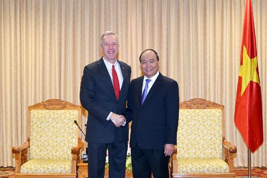 Thủ tướng Nguyễn Xuân Phúc tiếp Đại sứ Hoa Kỳ đến chào từ biệt