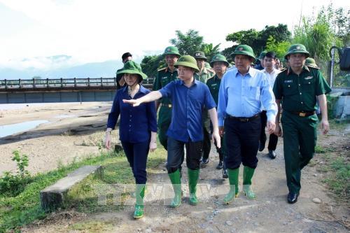 Phó Thủ tướng Trương Hòa Bình chỉ đạo khắc phục hậu quả thiên tai tại Yên Bái