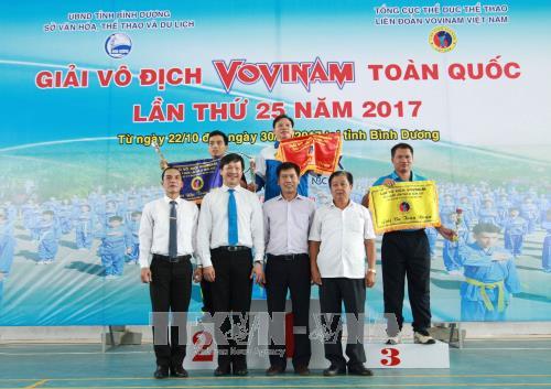 TP Hồ Chí Minh giành ngôi Nhất toàn đoàn tại giải Vovinam vô địch quốc gia năm 2017
