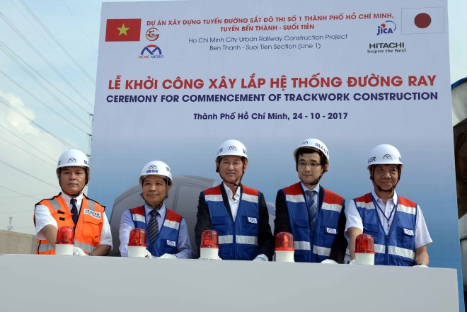 TP. Hồ Chí Minh: Khởi công xây lắp hệ thống đường ray tuyến metro Bến Thành - Suối Tiên