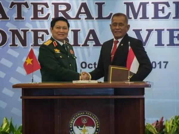 Việt Nam - Indonesia ký Tuyên bố Tầm nhìn chung về hợp tác quốc phòng 2017-2022