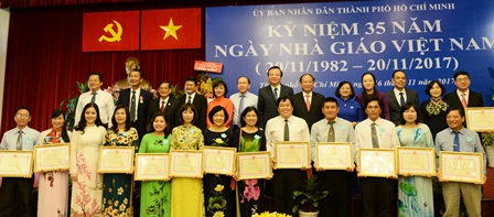 TP.Hồ Chí Minh kỷ niệm 35 năm Ngày Nhà giáo Việt Nam
