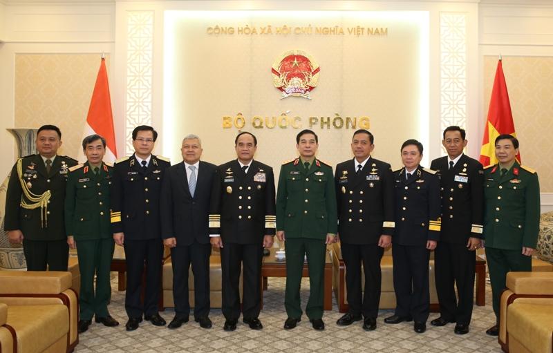 Thượng tướng Phan Văn Giang tiếp Tư lệnh Hải quân Indonesia