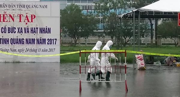 Quảng Nam: Diễn tập ứng phó sự cố bức xạ và hạt nhân 
