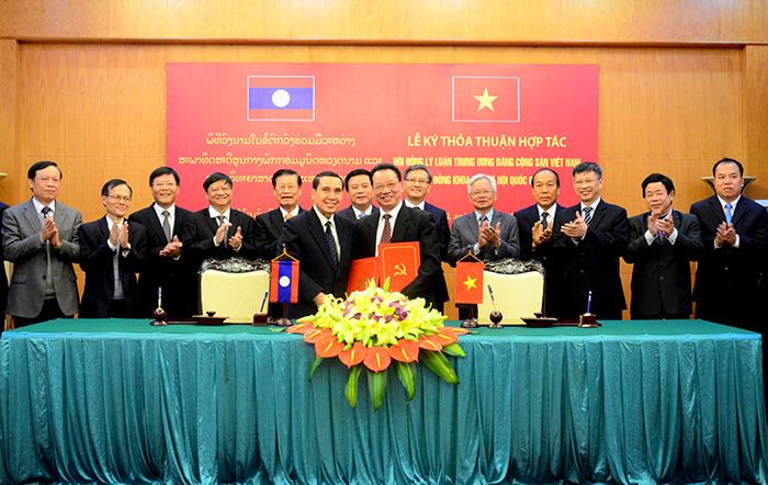 Tăng cường hợp tác Việt Nam - Lào trên lĩnh vực khoa học lý luận chính trị