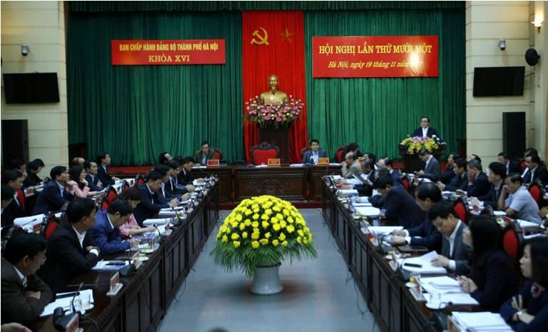 Hội nghị lần thứ 11 Ban Chấp hành Đảng bộ Thành phố Hà Nội khóa XVI