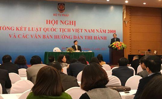 Cần sớm sửa đổi, bổ sung văn bản quy định chi tiết thi hành Luật Quốc tịch Việt Nam