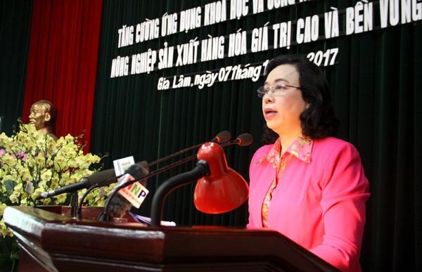 Hà Nội phấn đấu trở thành địa phương phát triển KH&CN hàng đầu cả nước trong lĩnh vực nông nghiệp