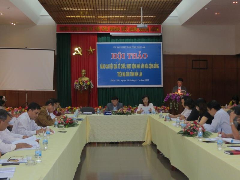 Đắk Lắk: Nâng cao hiệu quả tổ chức, hoạt động nhà văn hóa cộng đồng