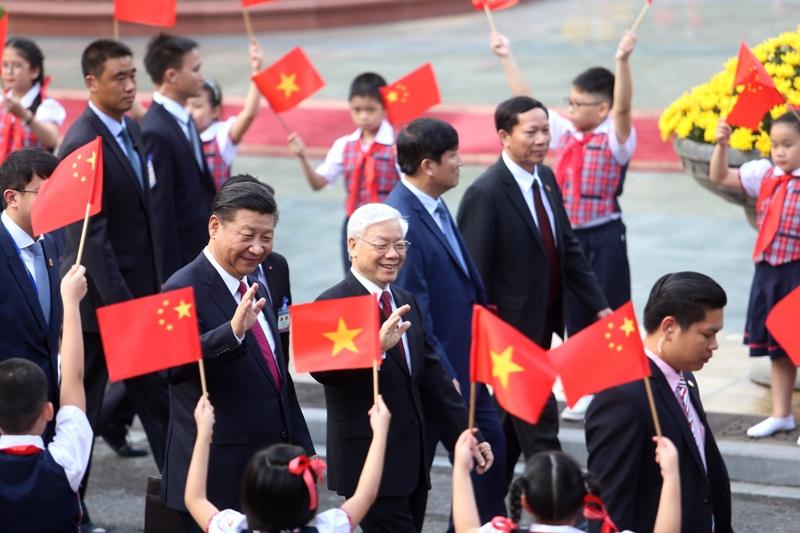 Tổng Bí thư Nguyễn Phú Trọng chủ trì Lễ đón chính thức Tổng Bí thư, Chủ tịch Trung Quốc Tập Cận Bình
