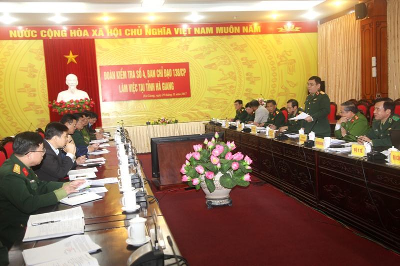 Ban Chỉ đạo 138 của Chính phủ làm việc tại Hà Giang