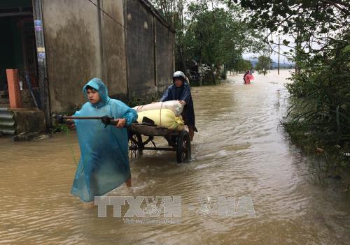 Mưa lũ gây nhiều thiệt hại tại Thừa Thiên - Huế