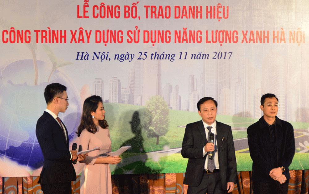 Lễ công bố và trao danh hiệu Tòa nhà EVN đạt công trình xây dựng sử dụng năng lượng xanh Hà Nội năm 2017