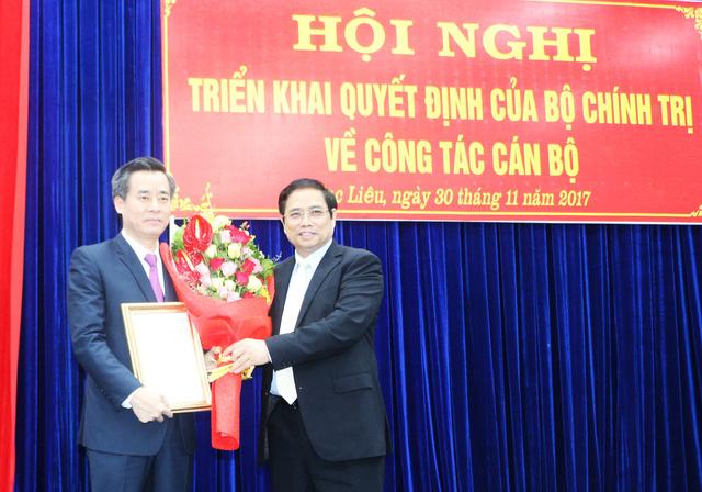Đồng chí Nguyễn Quang Dương nhận nhiệm vụ Bí thư Tỉnh ủy Bạc Liêu