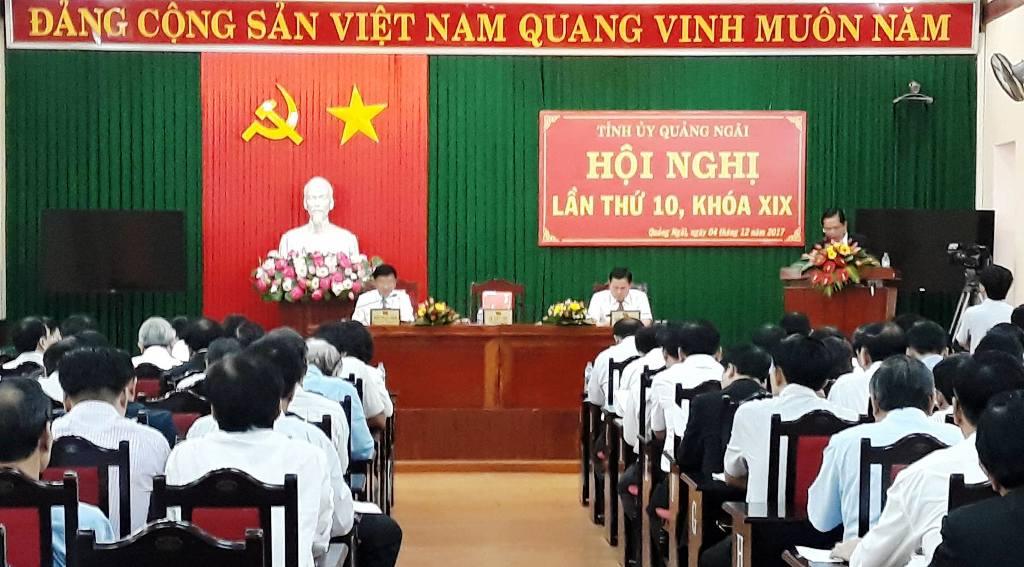 Hội nghị Tỉnh ủy Quảng Ngãi mở rộng lần thứ 10  