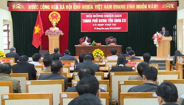 Khai mạc kỳ họp thứ 4 HĐND thành phố Hưng Yên khóa XXI
