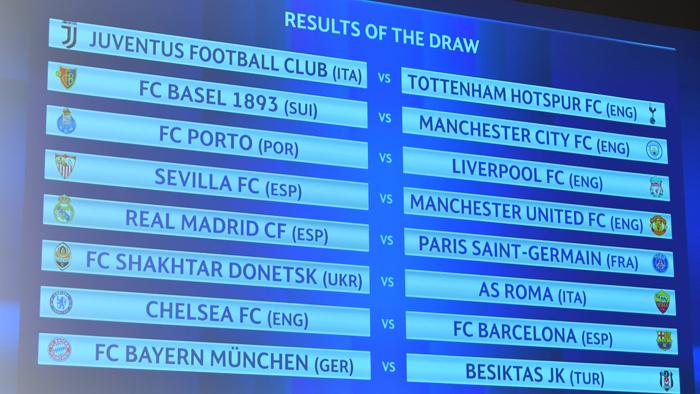 Những cặp đấu sinh tử tại vòng 1/8 Champions League