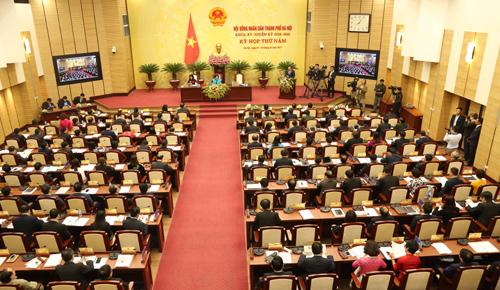 Kỳ họp thứ năm HĐND TP Hà Nội khóa XV: Bàn và quyết định các nội dung quan trọng của năm 2018