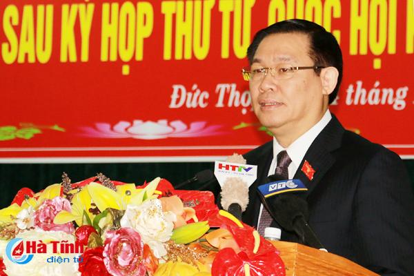 Phó Thủ tướng Vương Đình Huệ tiếp xúc cử tri tại Đức Thọ, Hà Tĩnh