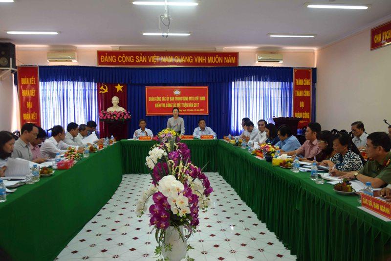 MTTQ Việt Nam tỉnh Sóc Trăng cần tăng cường thực hiện công tác giám sát, phản biện xã hội