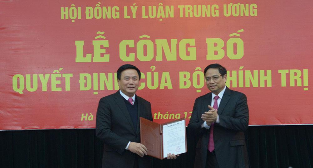 Bộ Chính trị phân công đồng chí Nguyễn Xuân Thắng phụ trách Hội đồng Lý luận Trung ương