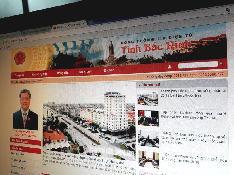 Bắc Ninh: Công khai kế hoạch thanh tra, kiểm tra doanh nghiệp trên Cổng Thông tin điện tử