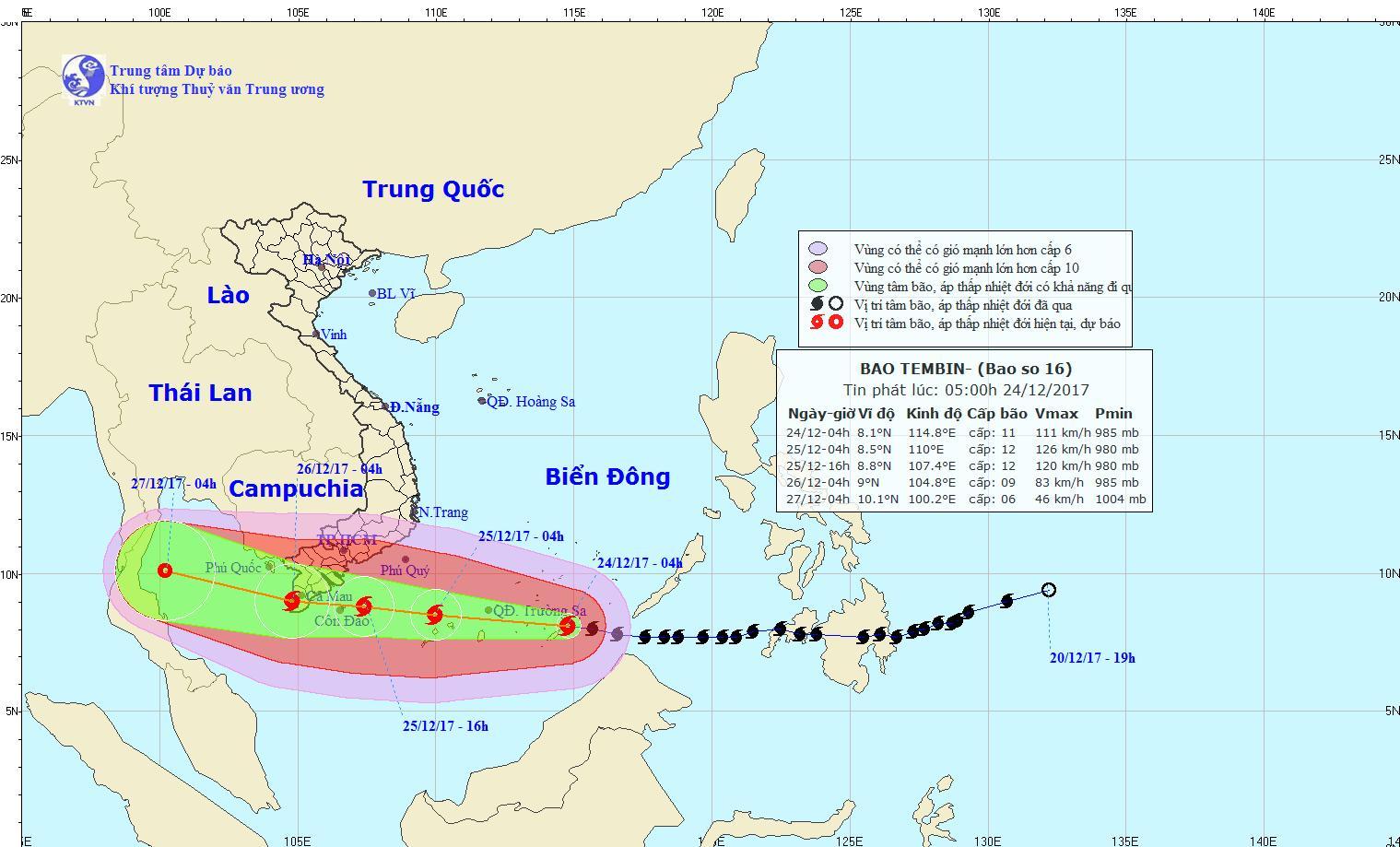 EVN chủ động phương án ứng phó bão Tembin