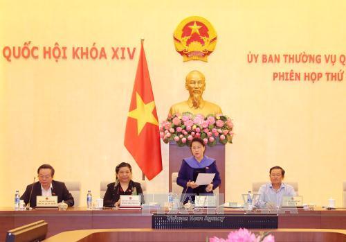 Thông cáo Phiên họp lần thứ 18, Ủy ban Thường vụ Quốc hội khóa XIV