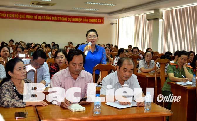 Đoàn đại biểu Quốc hội (ĐBQH) tổ chức tiếp xúc cử tri là cán bộ, đoàn viên - thanh niên trên địa bàn tỉnh